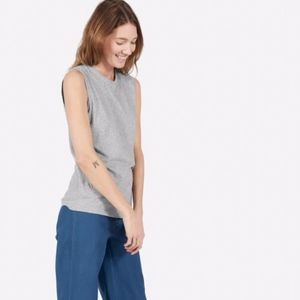 Everlane Tops - everlane | heather gray cotton muscle tank top XL